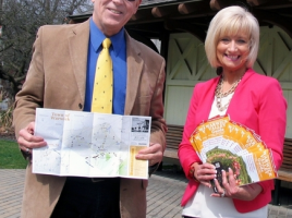 The Warwick Valley Chamber of Commerce recently distributed its 22nd annual Warwick Valley Tourism Guide, Events Calendar & Business Directory. From left, Michael Johndrow, executive director of the Warwick Valley Chamber of Commerce and Marketing Director Janine Dethmers.