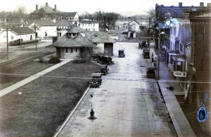 This early 20th Century photograph shows Railroad Avenue in the Village of Warwick. The Warwick Institute, which was on High Street (the large building in the background), burned in the early 1950s. It is one of the images including in the historical societyís program ìOn The Streets Where You Live, An Historic Photographic Ramble Through Warwick Villages and Hamletsî scheduled for Tuesday, June 4, at the A.W. Buckbee Center.