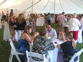More than 250 guests attended the second annual June Tent Party, co-sponsored by St. Anthony Community Hospital and Warwick Valley Rotary, which was held Saturday evening, June 1, on the great lawn at Mt. Alverno Center in Warwick.