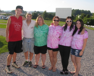 A family enterprise: Owners Beth and Ernest Wilson and members of their family manage and operate the Warwick-Drive-In Theater. From left, the Wilson's nephew Tylor Crozier, owners Ernest and Beth Wilson, Beth's sister Laurey Keller and her daughters Ilana and Jackie Crozier