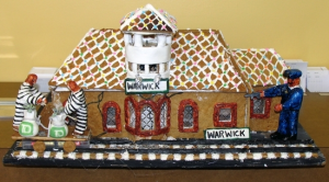 """Last year, judges declared Mike Byro of nearby Hewitt, New Jersey, the winner and recipient of the first-prize award for his gingerbread submission, """"Warwick Train Station""""."""