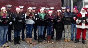 The Warwick Valley High School Meistersingers sang Christmas carols.