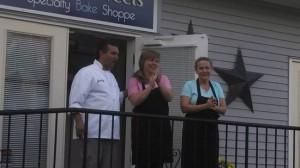 "Buddy Valastro, star of TLC's ""Bakery Boss,"" featured Laura's Sweets of Sugar Loaf in his new show. He is shown here with owners Laura Vreeland and Maria Malara. It will be aired on Monday, Jan. 27."