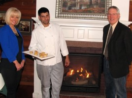 From left, Event Chair Janine Dethmers, Landmark Inn Chef/Owner Michael DiMartino and Warwick Valley Chamber of Commerce Executive Director Michael Johndrow.