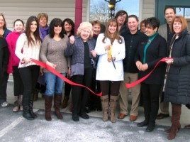On Friday, March 7, members of the Warwick Valley Chamber of Commerce joined Dr. Laurene Iammatteo, her husband, Christopher Rodney, her mother, Ann Iammatteo and others, for a ribbon cutting ceremony to celebrate the one year annniversary of her practice, Iammatteo Family Chiropractic.