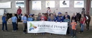 Beautiful People kids were back riding at Winslow again this year. They are pictured here with Winslow volunteers.