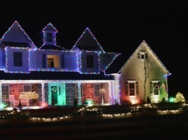 "One of last year's winners in the Regal Homes and Properties ""Light up Warwick"" contest: 3 Canterbury Lane in Warwick."