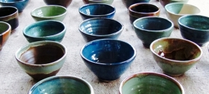 At Empty Bowls, bowls made and donated by local potters are available for purchase.
