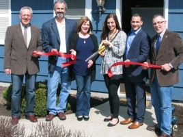 On April 13, local officials joined Andrea Sannella, her family and friends for the grand opening of AndreaþÄôs Day Spa at 7 Wisner Road. From left, Town of Warwick Supervisor Michael Sweeton, parents Anthony and Kathleen Sannella, owner Andrea Sannella, her friend Michael Casabona and Town of Warwick Supervisor Michael Sweeton.
