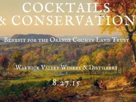 """The Warwick Valley Winery & Distillery will host a benefit cocktail reception for the Orange County Land Trust on Thursday, Aug. 27, from 6 to 9 p.m. Tickets are $50 per person and include all food and beverages. The artwork pictured here is """"Mount Adam and Eve"""" by Hudson River School artist Jasper Francis Cropsey."""