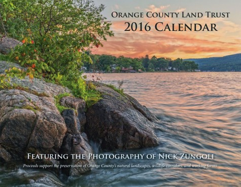 This photograph of Greenwood Lake by photographer Nick Zungoli graces the cover of the Orange County Land TrustþÄôs 2016 calendar. The calendar contains 11 other new seasonal images by Zungoli.