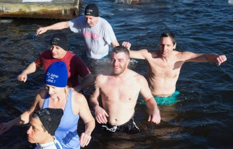 The air temperature Sunday afternoon in Greenwood Lake was 9 degrees. The water temperature was 34.