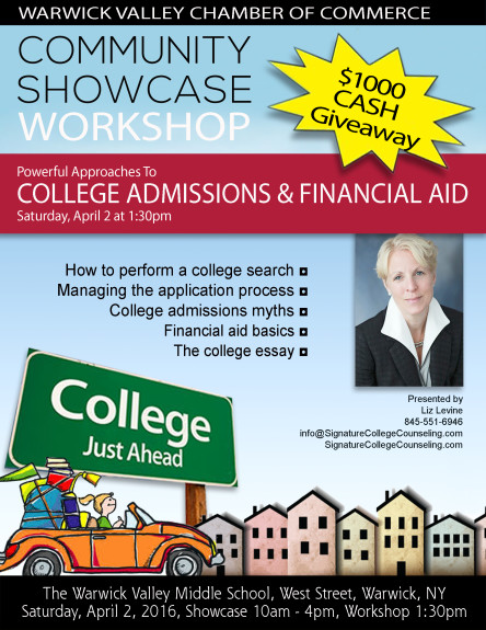 College Admissions Financial Aid Community Showcase Workshop 2016