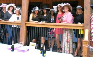 Photo by Roger Gavan The highlight of the afternoon was the ladies hat pageant with 21 participants, all wearing traditional Kentucky Derby attire and beautiful hats.
