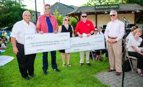 Provided photo The Hudson Valley Performing Arts Foundation presented $2,500 to Hudson Valley Honor Flight and The Committee for the Families of War Veterans at the symphony's POPS concert in Warwick on July 13. Pictured during the presentation, from left to right, are: Dan Chester, Dan O'Kane, Christine Little, Bill Skennion and Brett Wing.