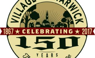 A panel of judes has selected this image by graphic designer and Warwick resident Nanette Hoey as the logo for the Village of Warwick's Sesquicentennial celebration next year.