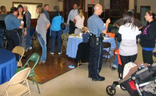 """Photo by Roger Gavan On Thursday, Sept. 29, representatives from the Warwick Police Department met with the administrators of the """"Warwick, NY Parents Group"""" and """"You Know You're From Warwick, NY When..."""" and about 30 local citizens at Wickham Woodland Manor."""